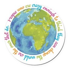 Change the world Round Car Magnet