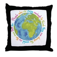Change the world Throw Pillow