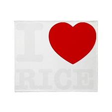 I love Rice Throw Blanket