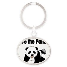 Save the Pandas Oval Keychain