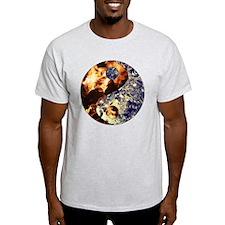 Fire  Ice Yin Yang T-Shirt