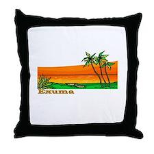 Exuma, Bahamas Throw Pillow