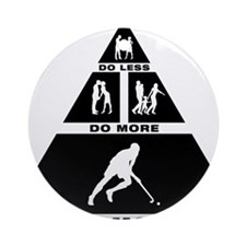 Field-Hockey-11-A Round Ornament