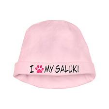 I Heart My Saluki baby hat
