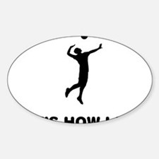Volleyball-01-12-A Sticker (Oval)