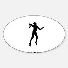 Volleyball-02-12-A Sticker (Oval)