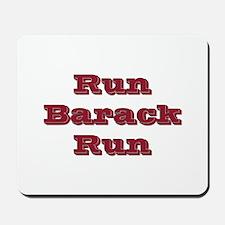 run barack run Mousepad