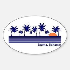 Exuma, Bahamas Oval Decal