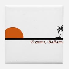 Exuma, Bahamas Tile Coaster