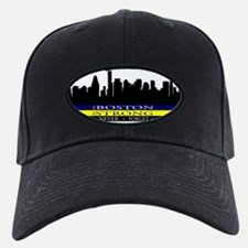 Boston Strong with blue and yellow Baseball Hat