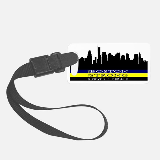 Boston Strong with blue and yell Luggage Tag