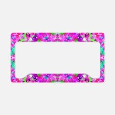Pretty Flowers Pink License Plate Holder