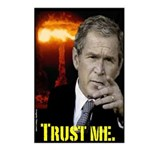 8 pack Bush Trust Me Postcards