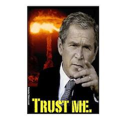 8 pack Bush Trust Me Postcards