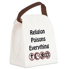 relligion poisons everything Canvas Lunch Bag