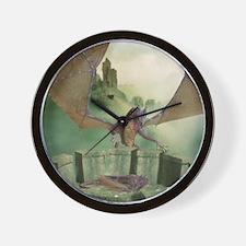 dl_shower_curtain Wall Clock