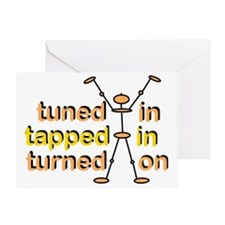 Tuned In Greeting Card