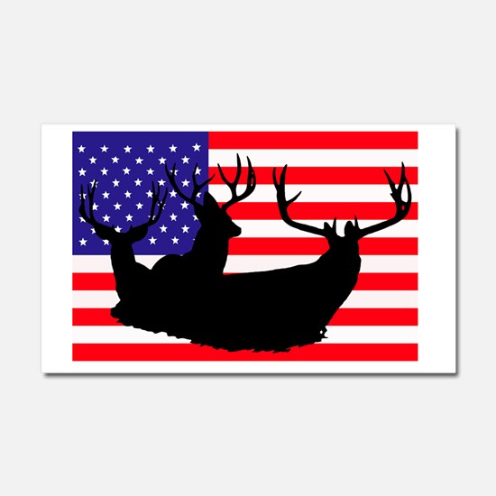 Patriotic hunter Car Magnet 20 x 12