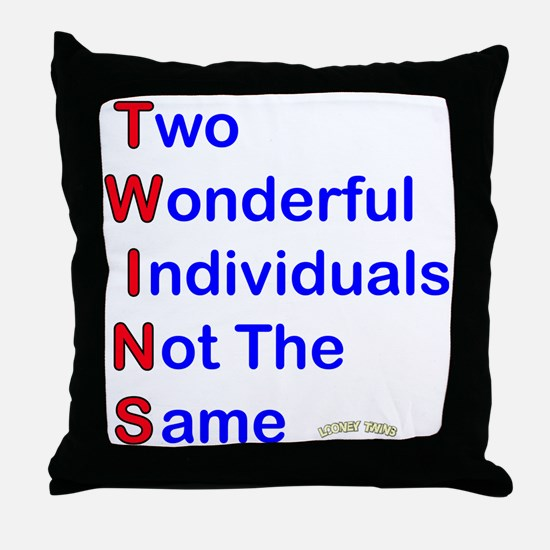 Looney Twins T-W-I-N-S Throw Pillow