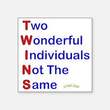 """Looney Twins T-W-I-N-S Square Sticker 3"""" x 3"""""""