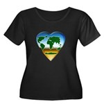 Heart-shaped Earth Women's Plus Size Scoop Neck Da