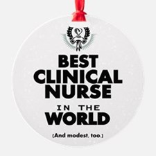 The Best in the World Nurse Clinical Ornament