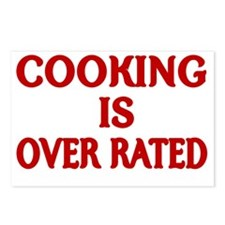 COOKING IS OVER RATED Postcards (Package of 8)
