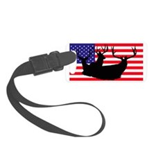 Patriotic hunter Luggage Tag