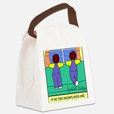 Looney Twins Snowflakes Canvas Lunch Bag