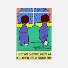 Looney Twins Snowflakes Rectangle Magnet