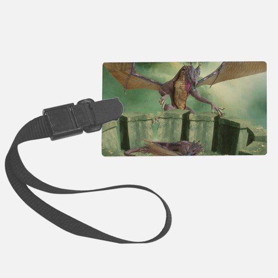 dl_Rectangular Canvas Pillow Luggage Tag
