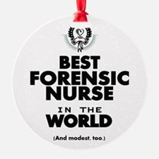 The Best in the World Nurse Forensic Ornament