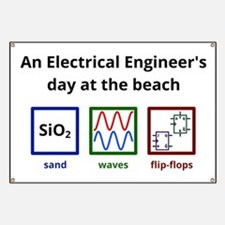 An Electrical Engineers day at the beach Banner