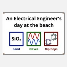 An Electrical Engineer's day at the beach Banner