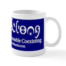Get Along (Coexist Parody Bumper Sticke Small Mug