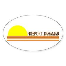 Freeport, Bahamas Oval Decal
