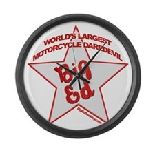 Big Ed Beckley star logo Large Wall Clock