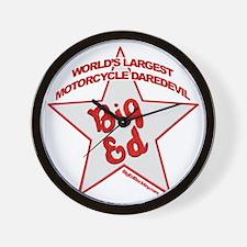 Big Ed Beckley star logo Wall Clock