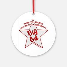 Big Ed Beckley star logo Round Ornament