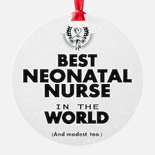 The Best in the World Nurse Neonatal Ornament