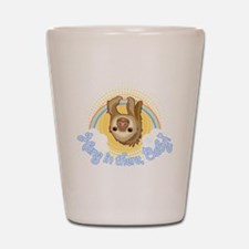 Hang In There Sloth Shot Glass