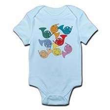 Colorful French Horns Infant Bodysuit