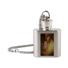 Hannah and Dad Flask Necklace