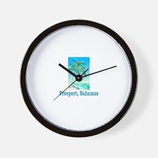 Freeport, Bahamas Wall Clock