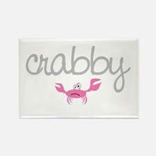 mom and baby crabby Rectangle Magnet