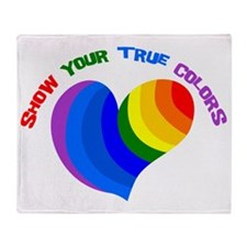 Show Your True Colors Throw Blanket