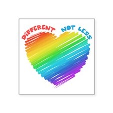 """Different Not Less Square Sticker 3"""" x 3"""""""
