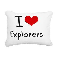 I love Explorers Rectangular Canvas Pillow
