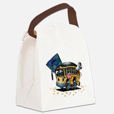 Graduation School Bus Canvas Lunch Bag