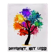 Different Not Less Throw Blanket
